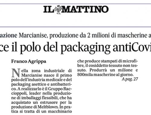 Anche il Mattino, il più autorevole quotidiano del Mezzogiorno, dedica attenzione ai nostri investimenti in materia di innovazione…  Buona lettura!